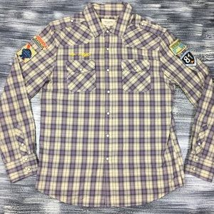 Heritage 1981 Shirt Sz XL Pearl Snap Button Plaid